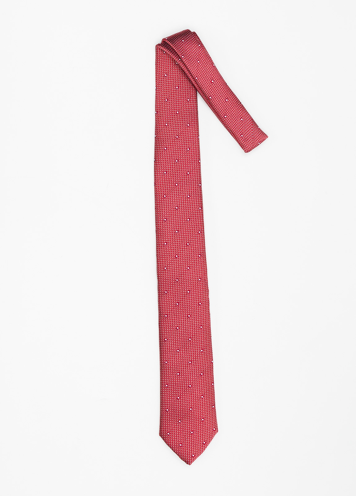 Corbata Formal Wear micro textura topito color rojo. Pala 7,5 cm. 100% Seda. - Ítem1