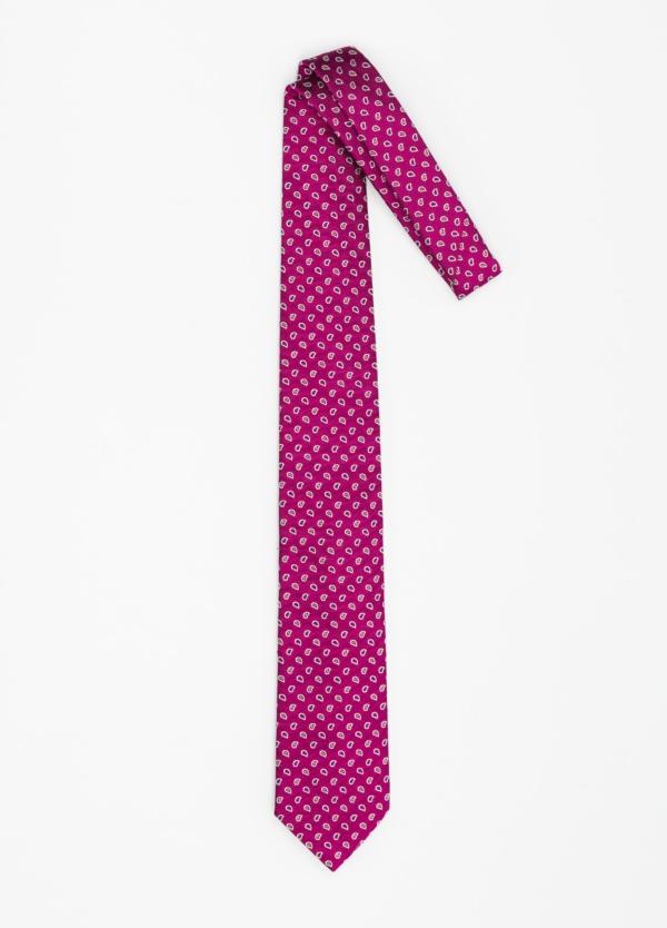 Corbata Formal Wear dibujo cachemir color fuxia. Pala 7,5 cm. 100% Seda. - Ítem1