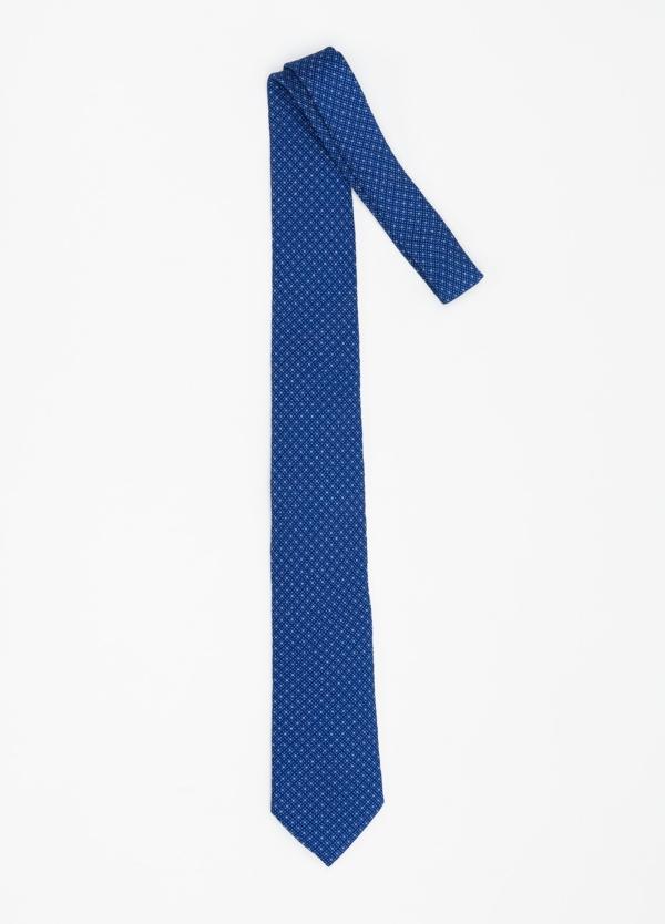 Corbata Formal Wear micro dibujo color azul. Pala 7,5 cm. 100% Seda. - Ítem1