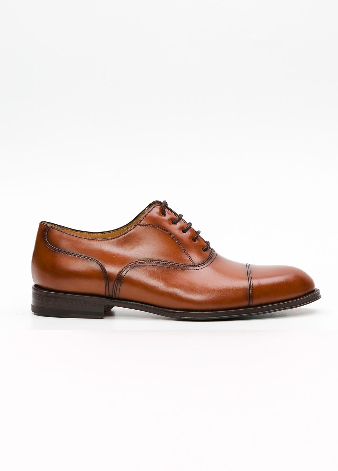 Zapato Formal Wear color marrón con cordones, 100% Piel.