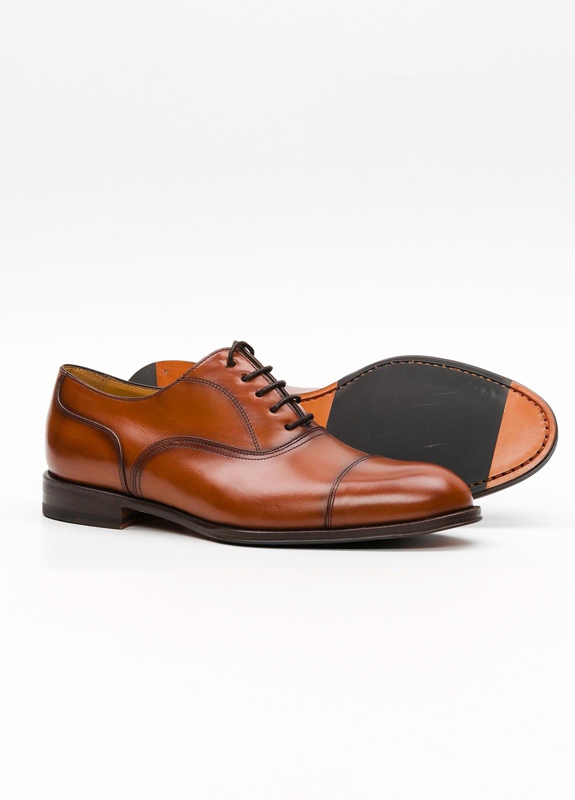 Zapato Formal Wear color marrón con cordones, 100% Piel. - Ítem3