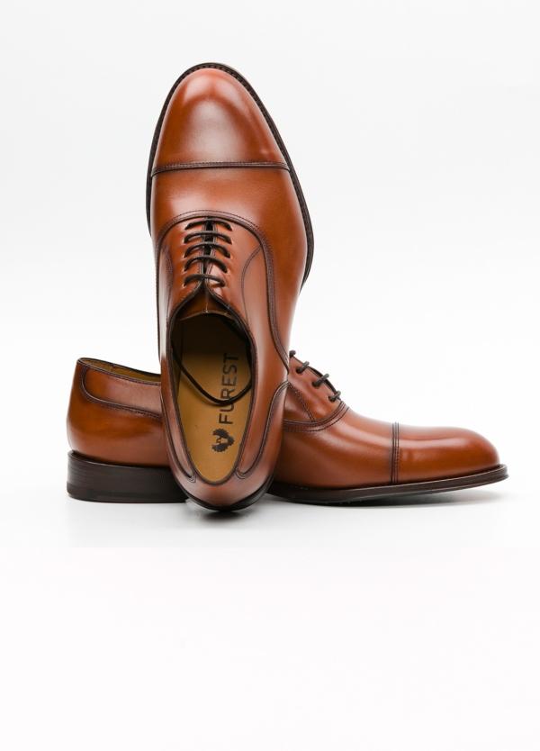 Zapato Formal Wear color marrón con cordones, 100% Piel. - Ítem1