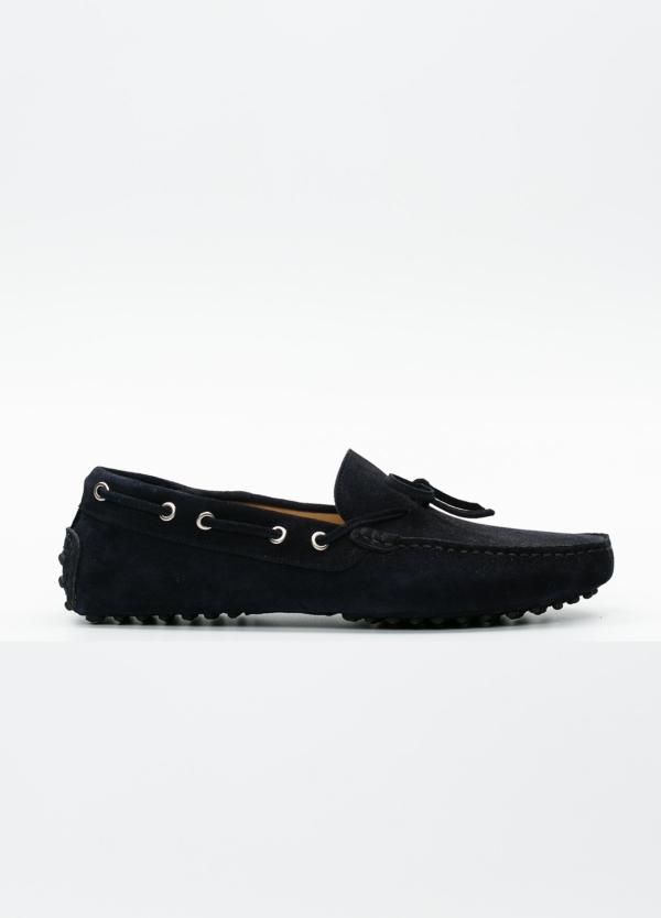Zapato mocasín Sport color azul marino, 100% Piel.