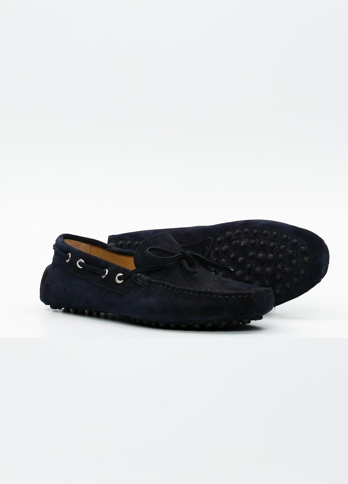Zapato mocasín Sport color azul marino, 100% Piel. - Ítem5