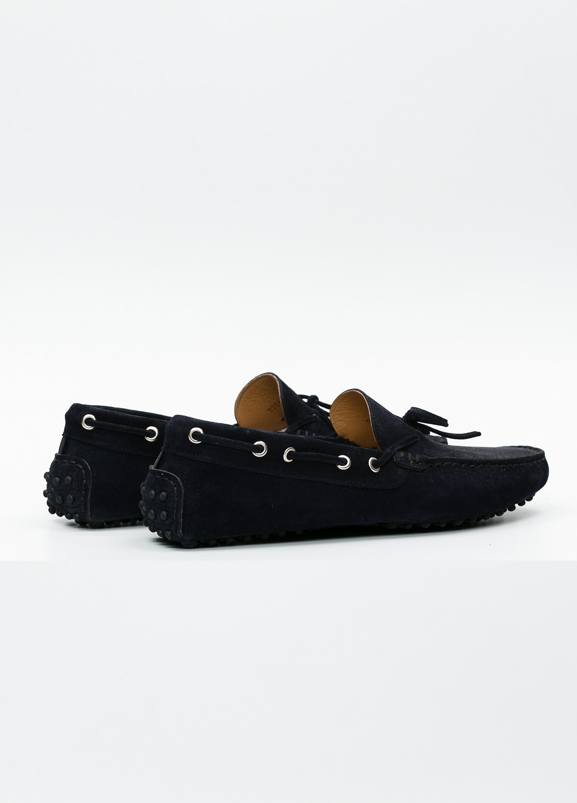 Zapato mocasín Sport color azul marino, 100% Piel. - Ítem1