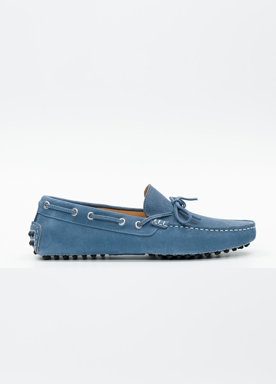 Zapato mocasín Sport color azul, 100% Piel.