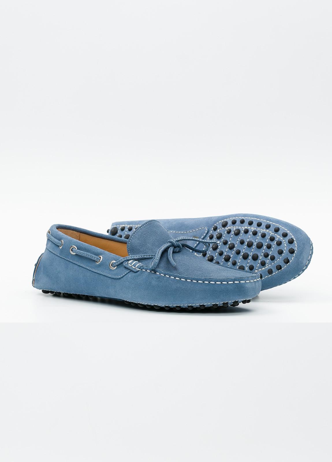 Zapato mocasín Sport color azul, 100% Piel. - Ítem3