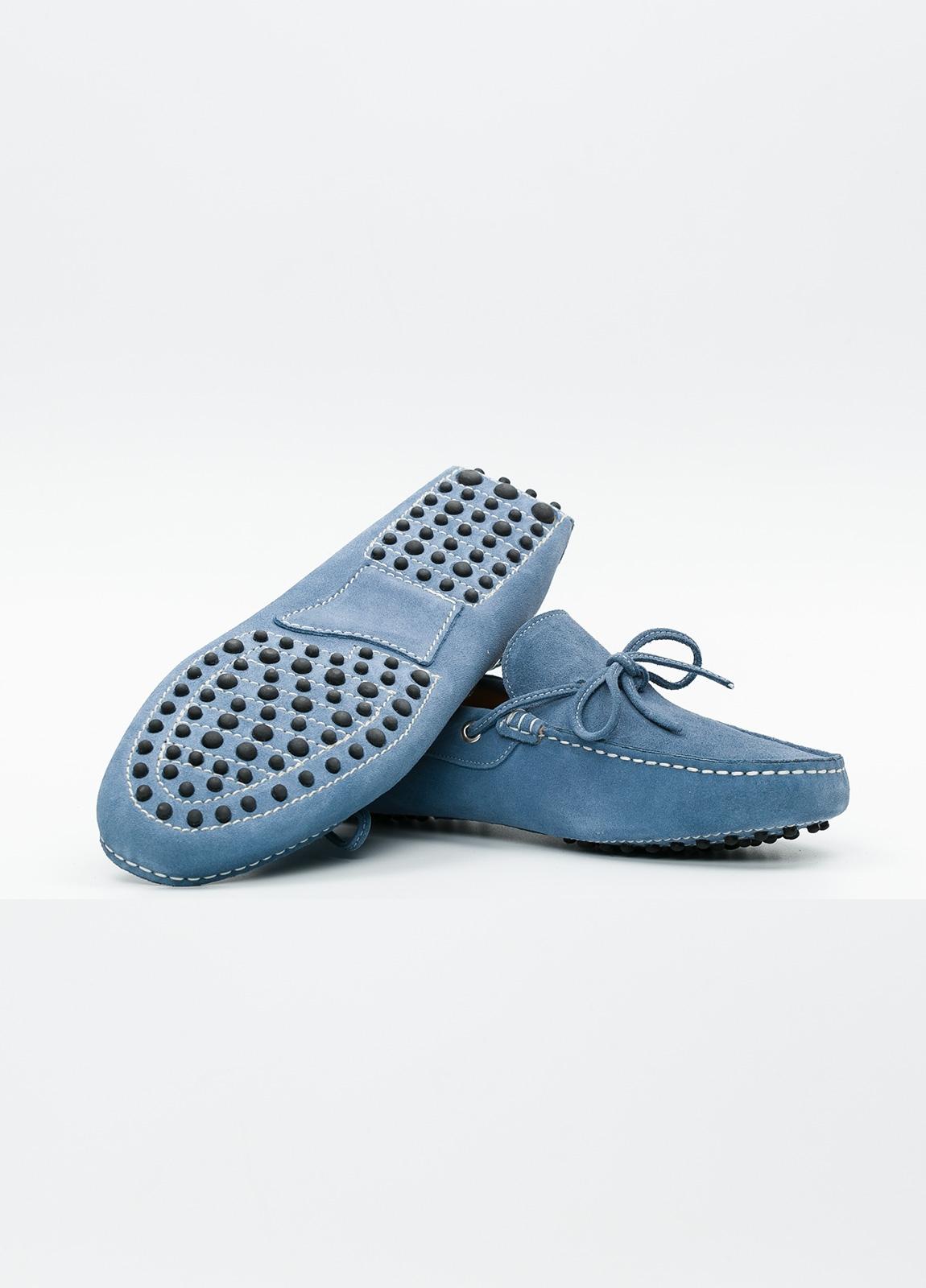 Zapato mocasín Sport color azul, 100% Piel. - Ítem1