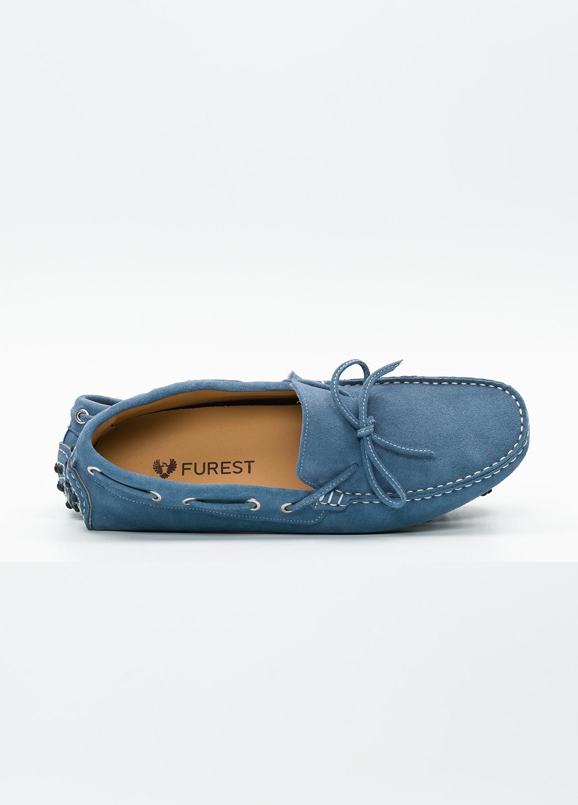 Zapato mocasín Sport color azul, 100% Piel. - Ítem2