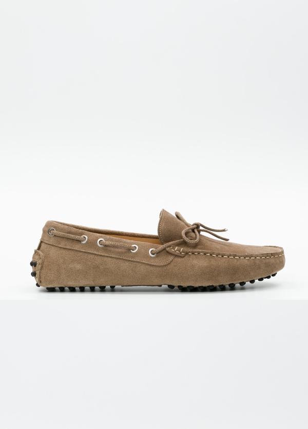 Zapato mocasín Sport color beige, 100% Piel.