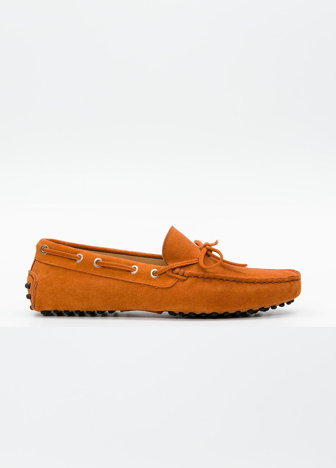 Zapato mocasín Sport color teja, 100% Piel.