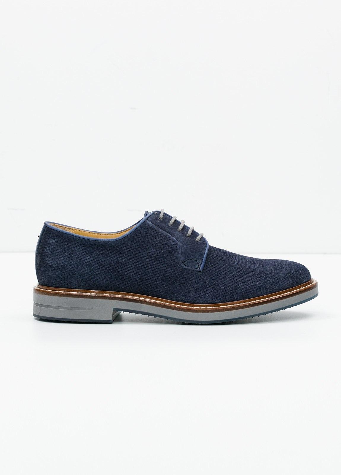 Zapato Sport Wear color azul. 100% Serraje.
