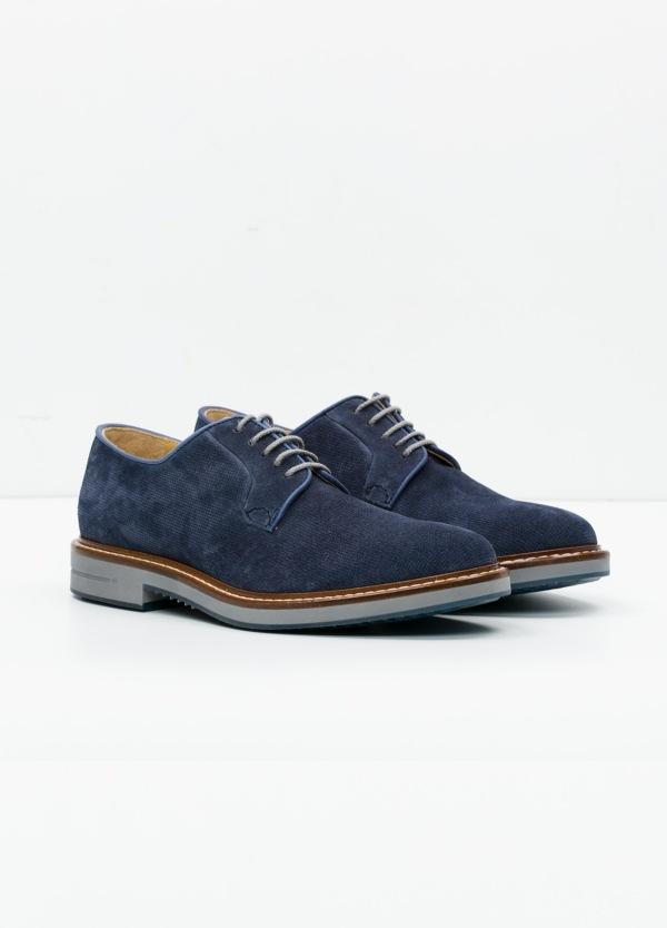 Zapato Sport Wear color azul. 100% Serraje. - Ítem3