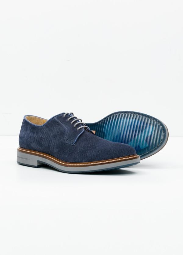 Zapato Sport Wear color azul. 100% Serraje. - Ítem1