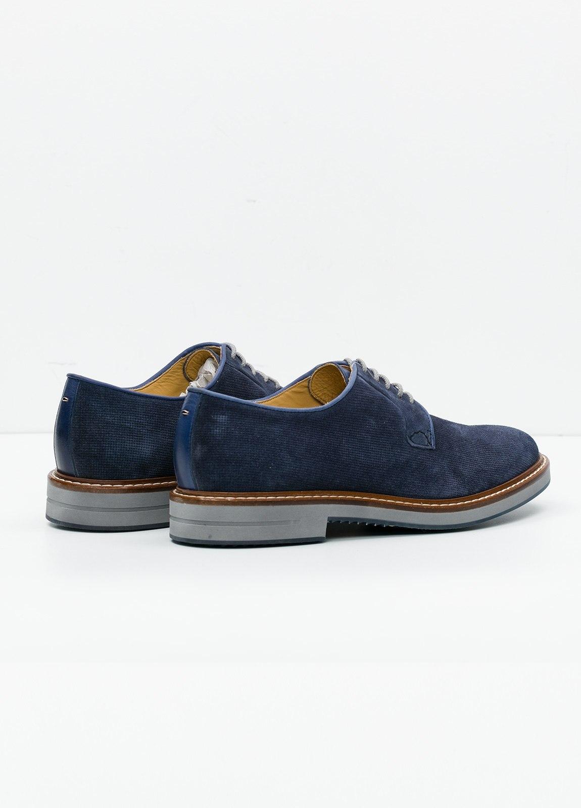 Zapato Sport Wear color azul. 100% Serraje. - Ítem4