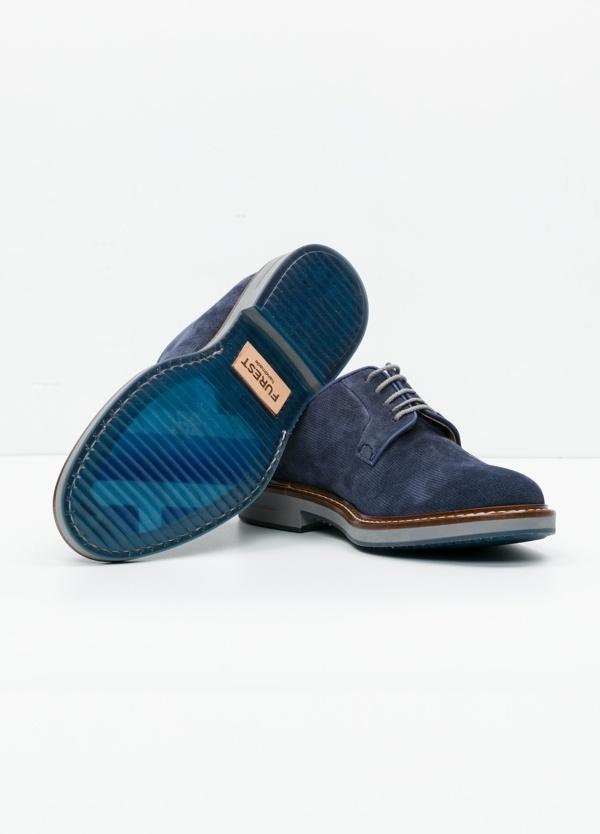 Zapato Sport Wear color azul. 100% Serraje. - Ítem2
