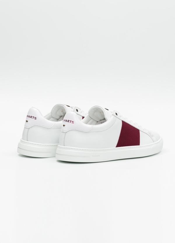 Calzado sport color blanco con detalles granates. 100% Piel. - Ítem4