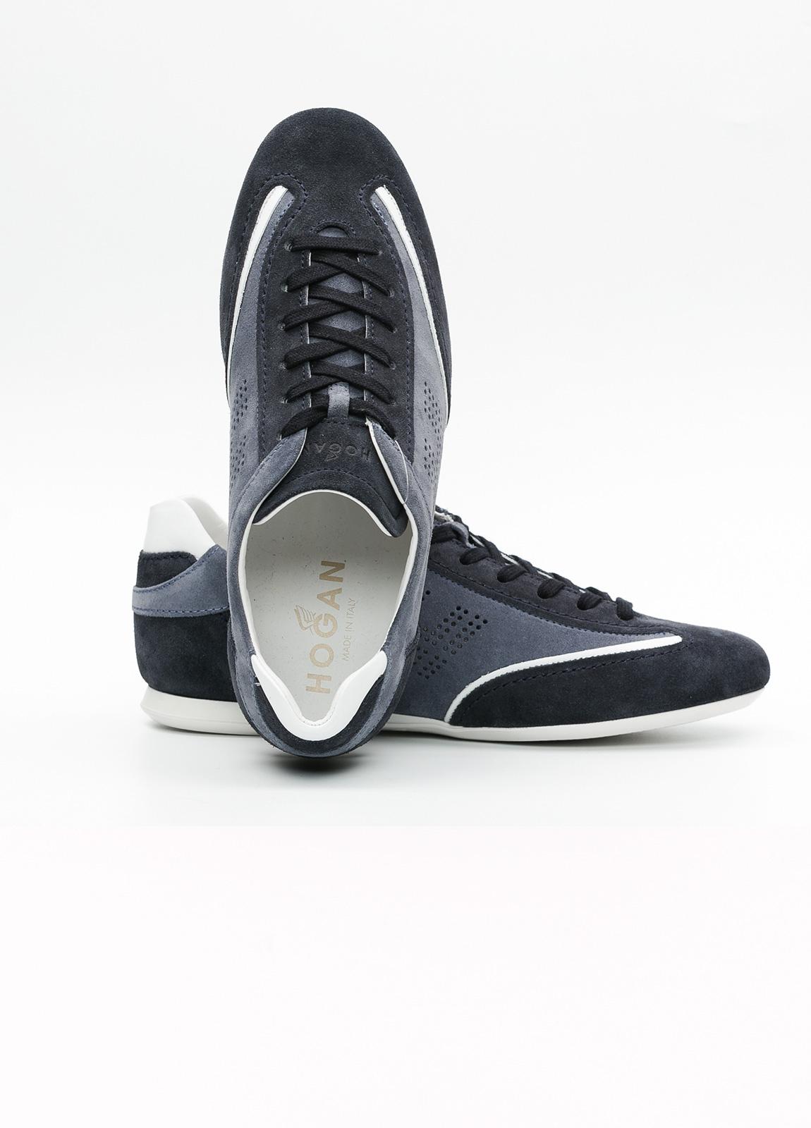 Calzado sport hombre OLYMPIA color azul. 100% Serraje. - Ítem2