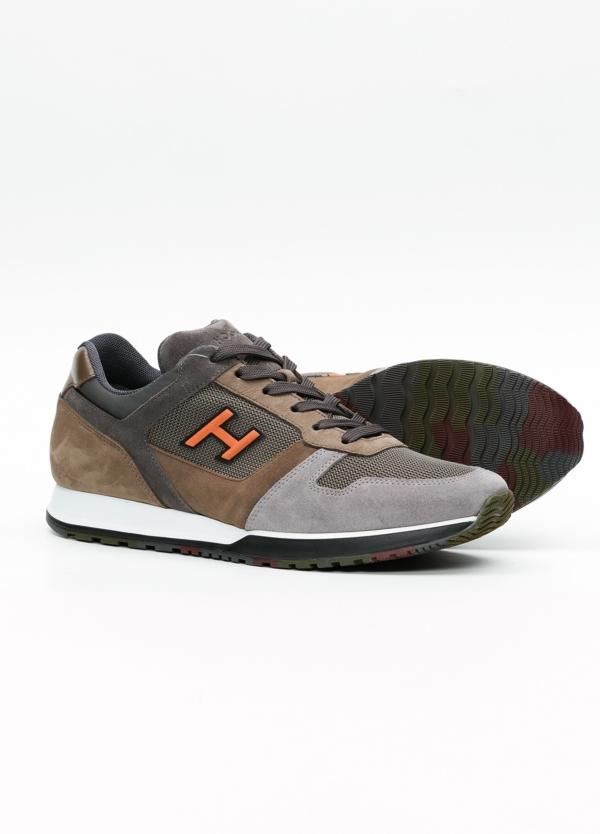 Calzado sport hombre H321 color marrón. Combinación de serraje, tejido técnico y apliques en piel. - Ítem1