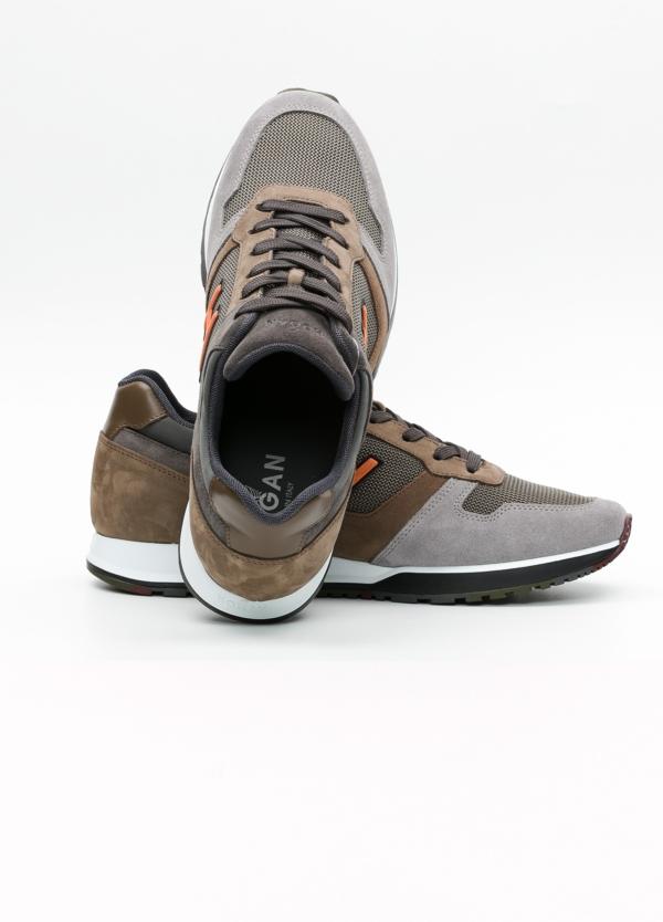Calzado sport hombre H321 color marrón. Combinación de serraje, tejido técnico y apliques en piel. - Ítem3