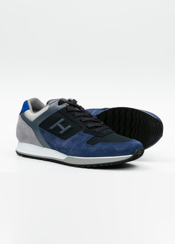 Calzado sport hombre H321 color azul. Combinación de serraje, tejido técnico y apliques en piel. - Ítem1