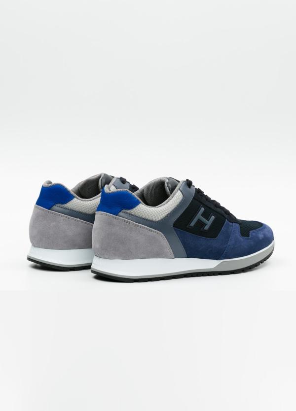 Calzado sport hombre H321 color azul. Combinación de serraje, tejido técnico y apliques en piel. - Ítem3