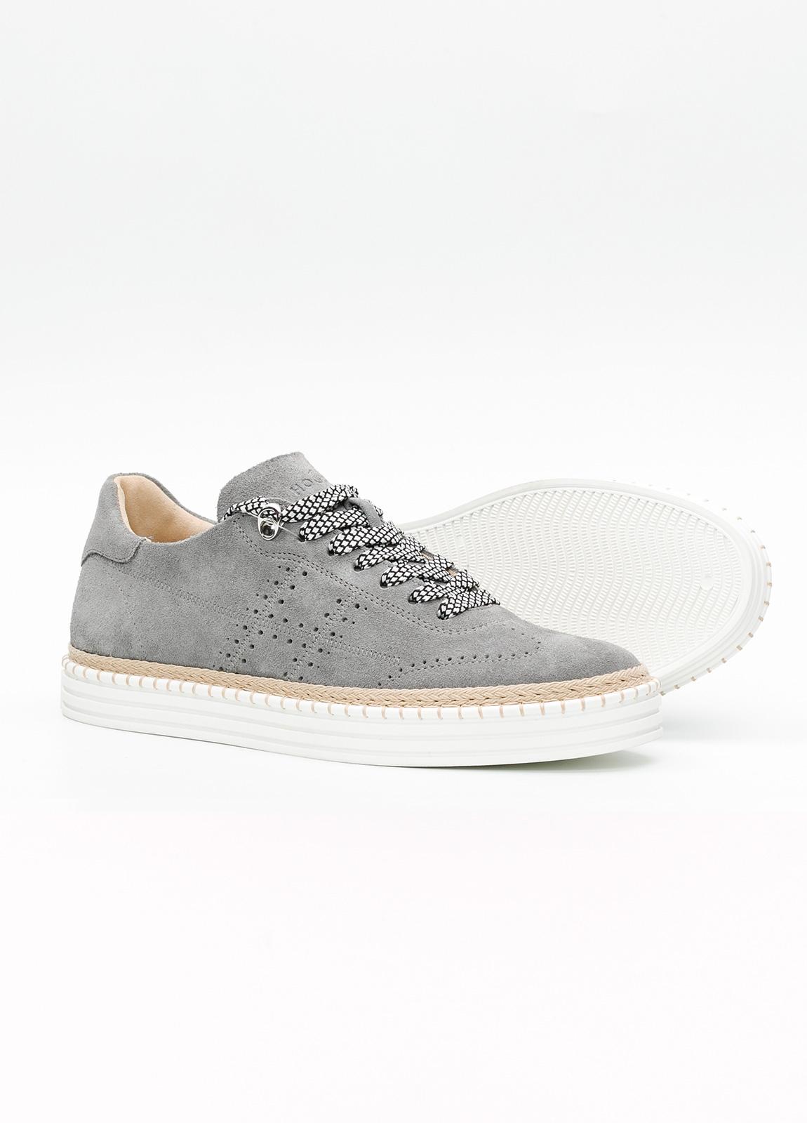 Calzado sport hombre R260 color gris. 100% Serraje. - Ítem2