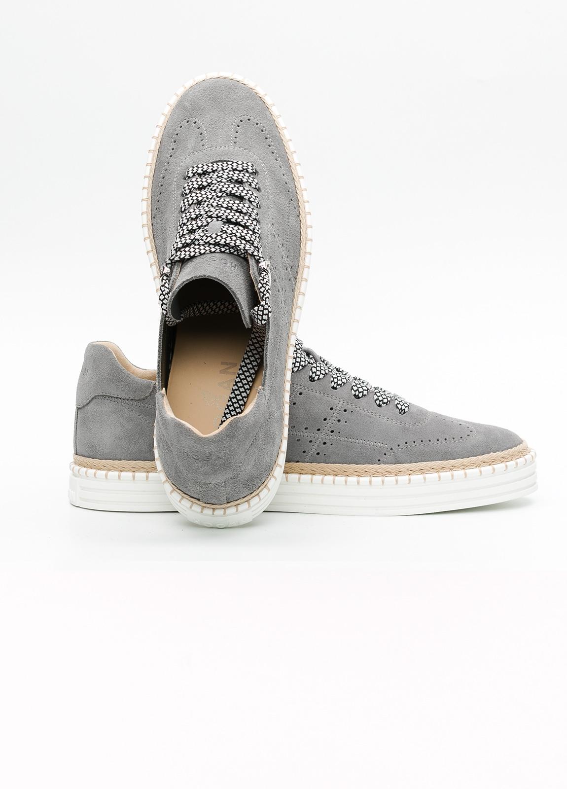 Calzado sport hombre R260 color gris. 100% Serraje. - Ítem4
