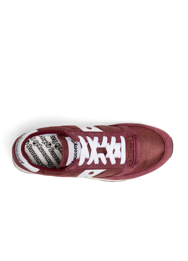 Calzado sport hombre JAZZ O VINTAGE color granate con detalles blancos, combinación de serraje, malla y tejido técnico. - Ítem3