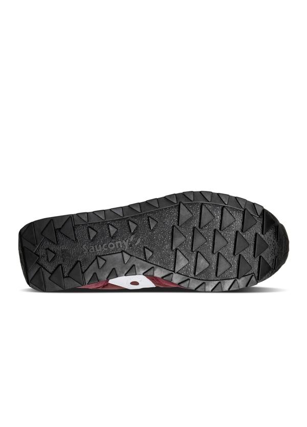 Calzado sport hombre JAZZ O VINTAGE color granate con detalles blancos, combinación de serraje, malla y tejido técnico. - Ítem2