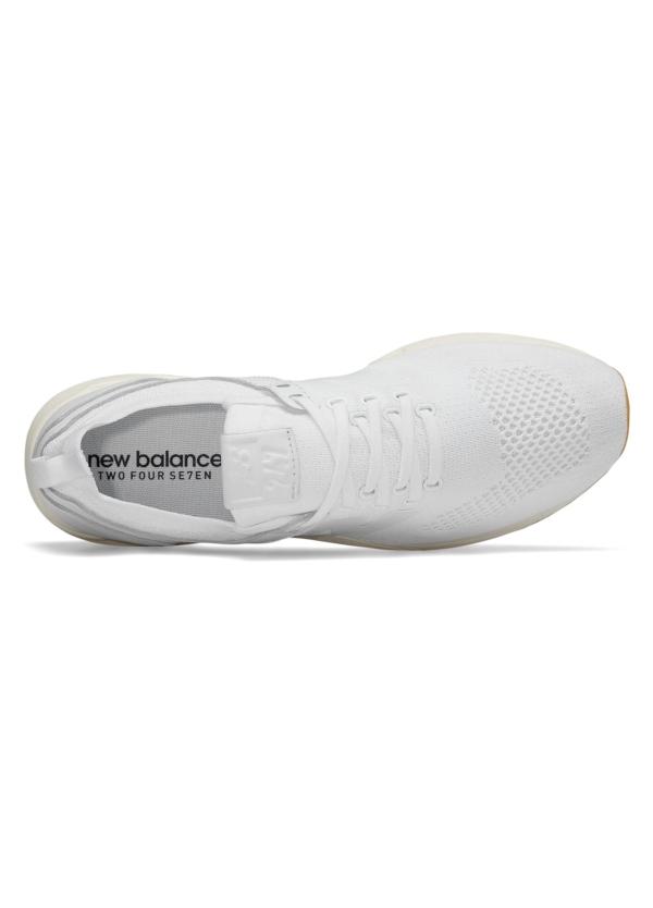 Sneaker hombre MRL247 color blanco, piel y malla. - Ítem1