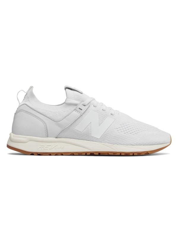 Sneaker hombre MRL247 color blanco, piel y malla.