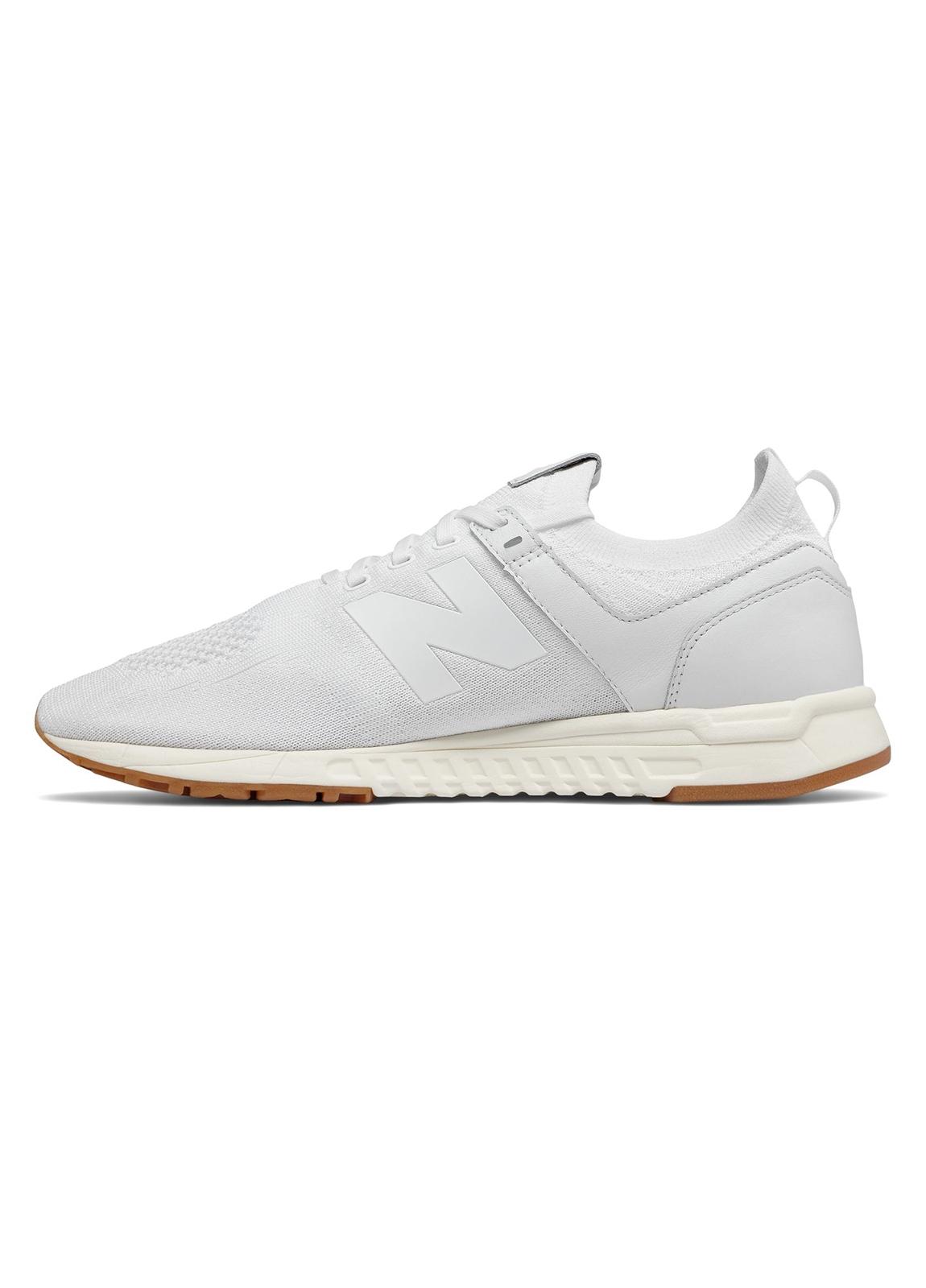Sneaker hombre MRL247 color blanco, piel y malla. - Ítem3