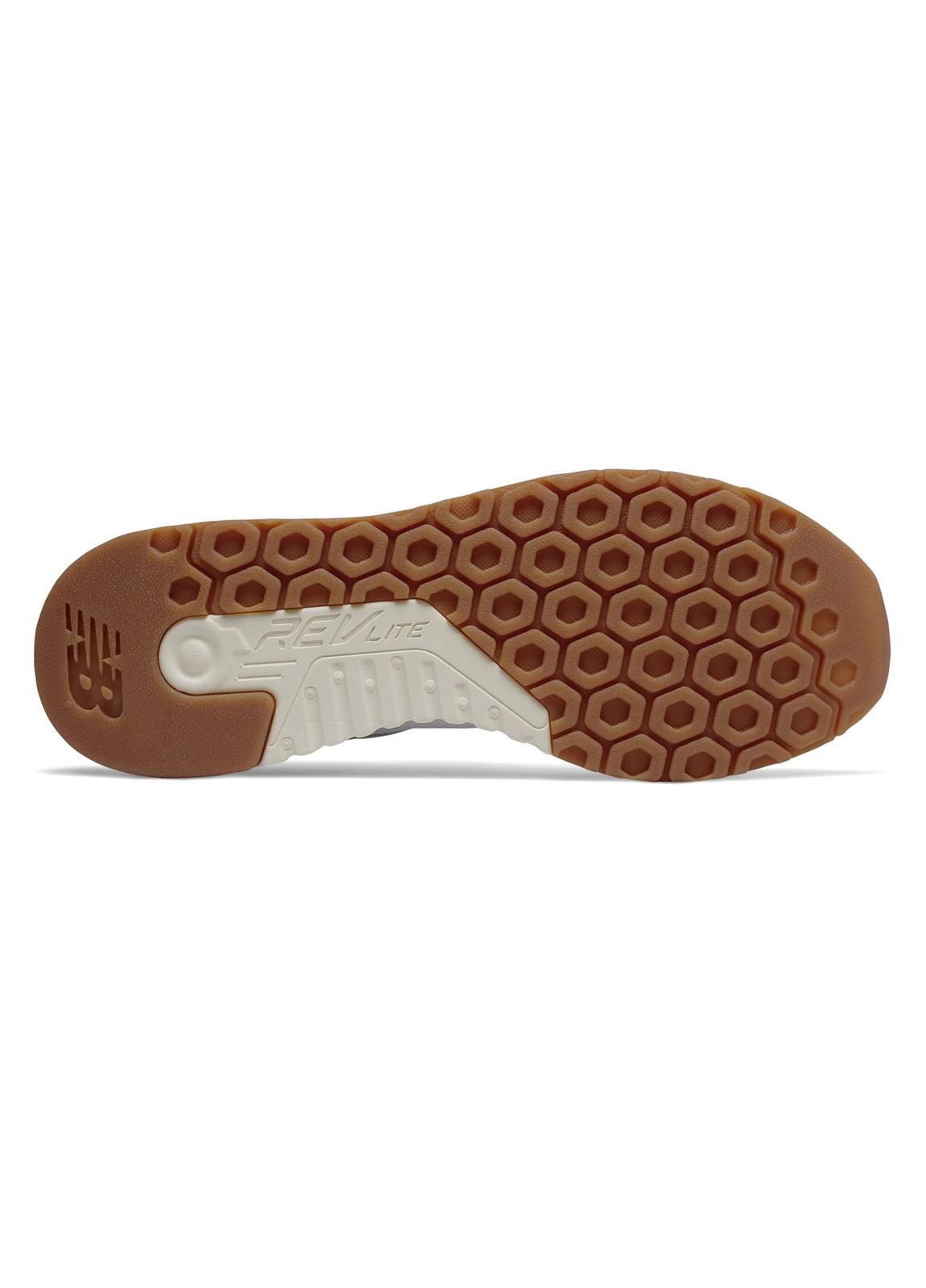 Sneaker hombre MRL247 color blanco, piel y malla. - Ítem2