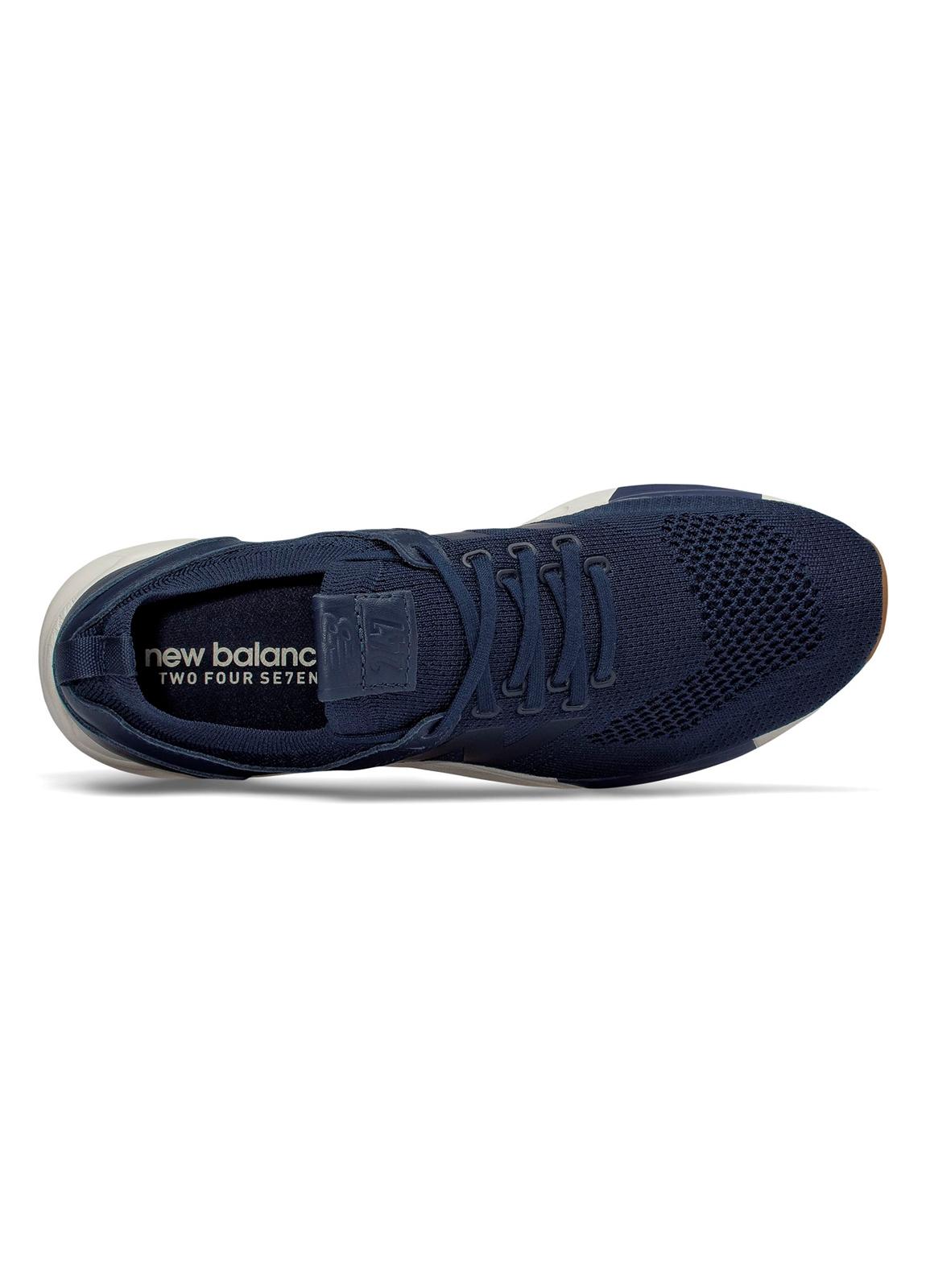 Sneaker hombre MRL247 color AZUL MARINO, piel y malla. - Ítem3