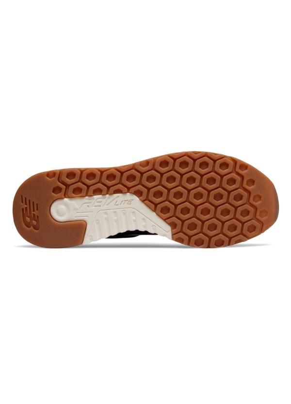 Sneaker hombre MRL247 color AZUL MARINO, piel y malla. - Ítem2