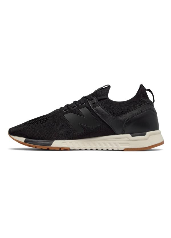 Sneaker hombre MRL247 color negro, piel y malla. - Ítem1