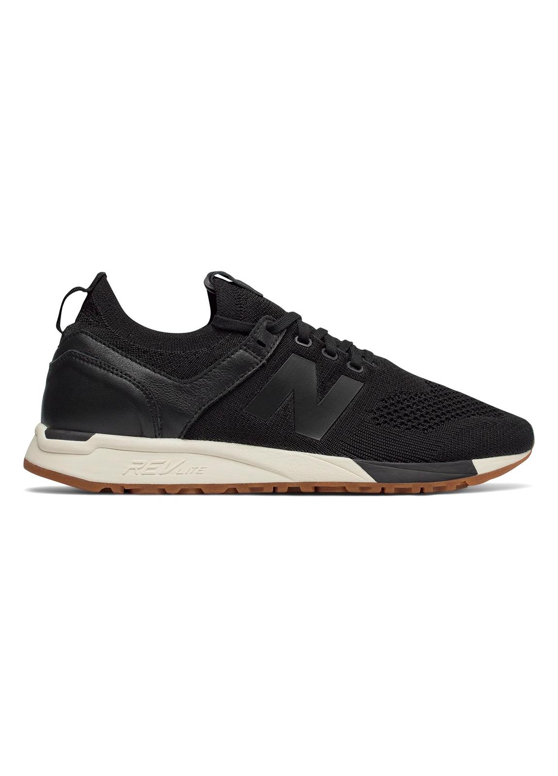 Sneaker hombre MRL247 color negro, piel y malla.