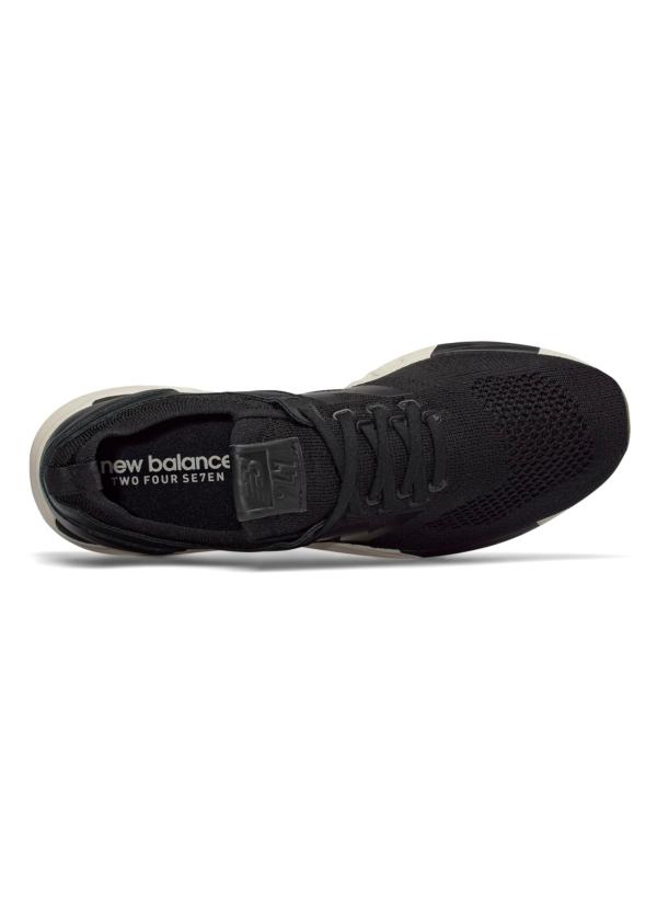 Sneaker hombre MRL247 color negro, piel y malla. - Ítem2