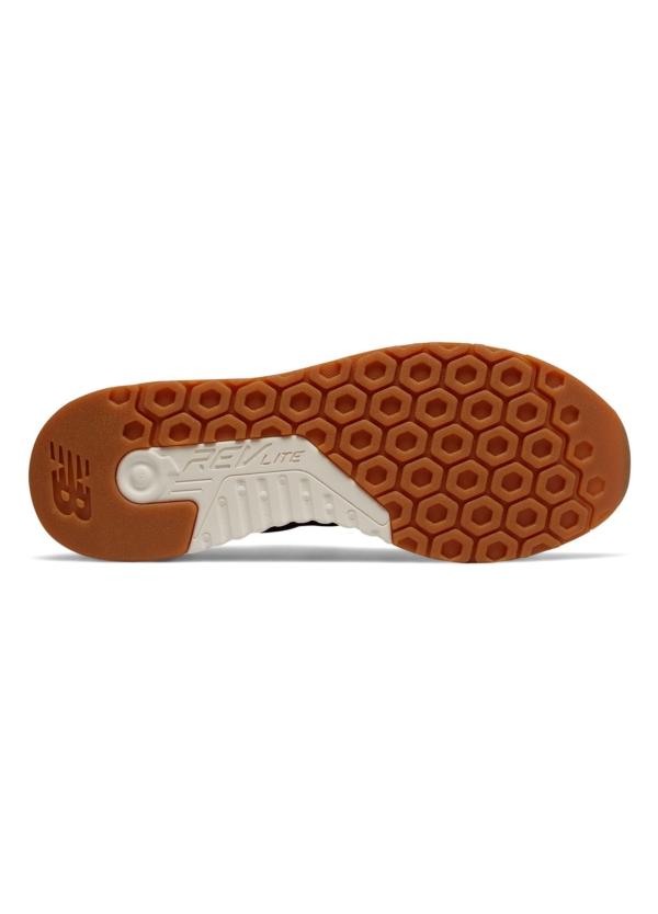 Sneaker hombre MRL247 color negro, piel y malla. - Ítem3