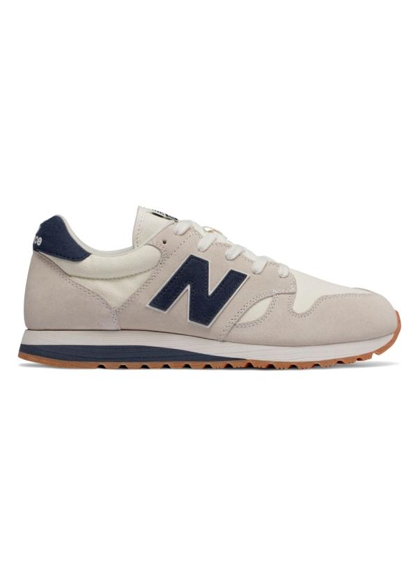 Sneaker hombre U520 color blanco con detalles granate, serraje, piel y malla.
