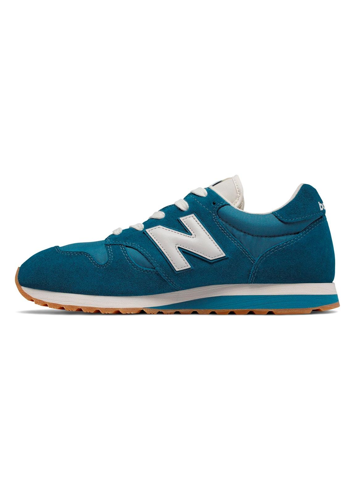 Sneaker hombre U520 color azul turquesa con detalles en blanco serraje, piel y malla. - Ítem1