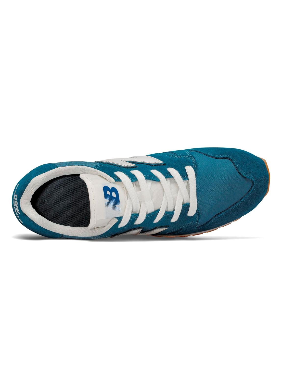 Sneaker hombre U520 color azul turquesa con detalles en blanco serraje, piel y malla. - Ítem2