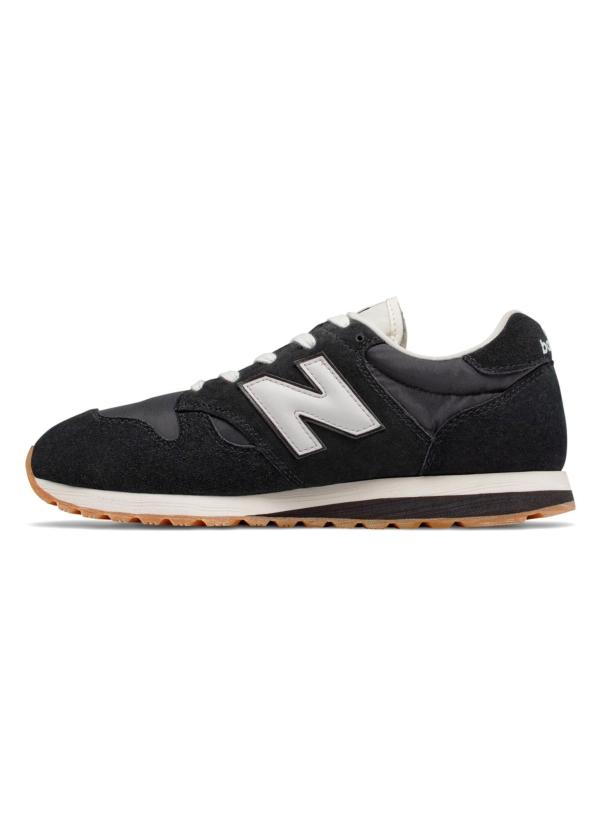 Sneaker hombre U520 color negro con detalles en blanco serraje, piel y malla. - Ítem3
