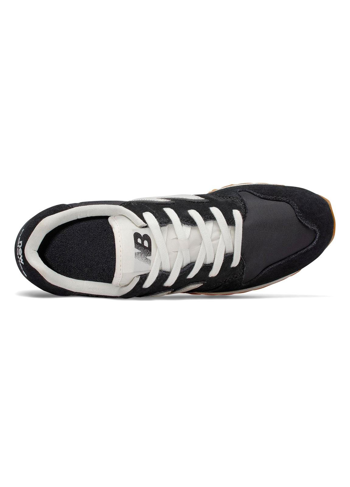 Sneaker hombre U520 color negro con detalles en blanco serraje, piel y malla. - Ítem2