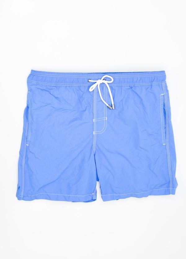 Bañador liso color azul.