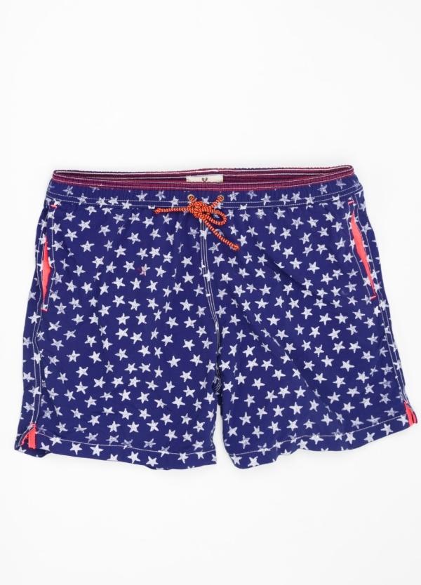 Bañador con estampado de estrellas color azul marino.