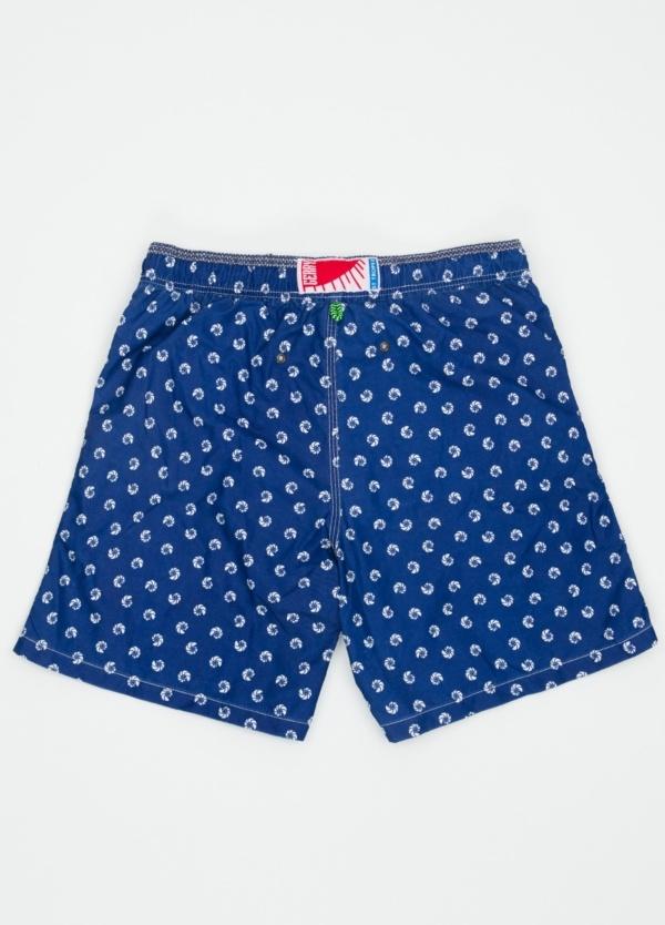 Bañador con estampado de caracolas color azul medio. - Ítem1