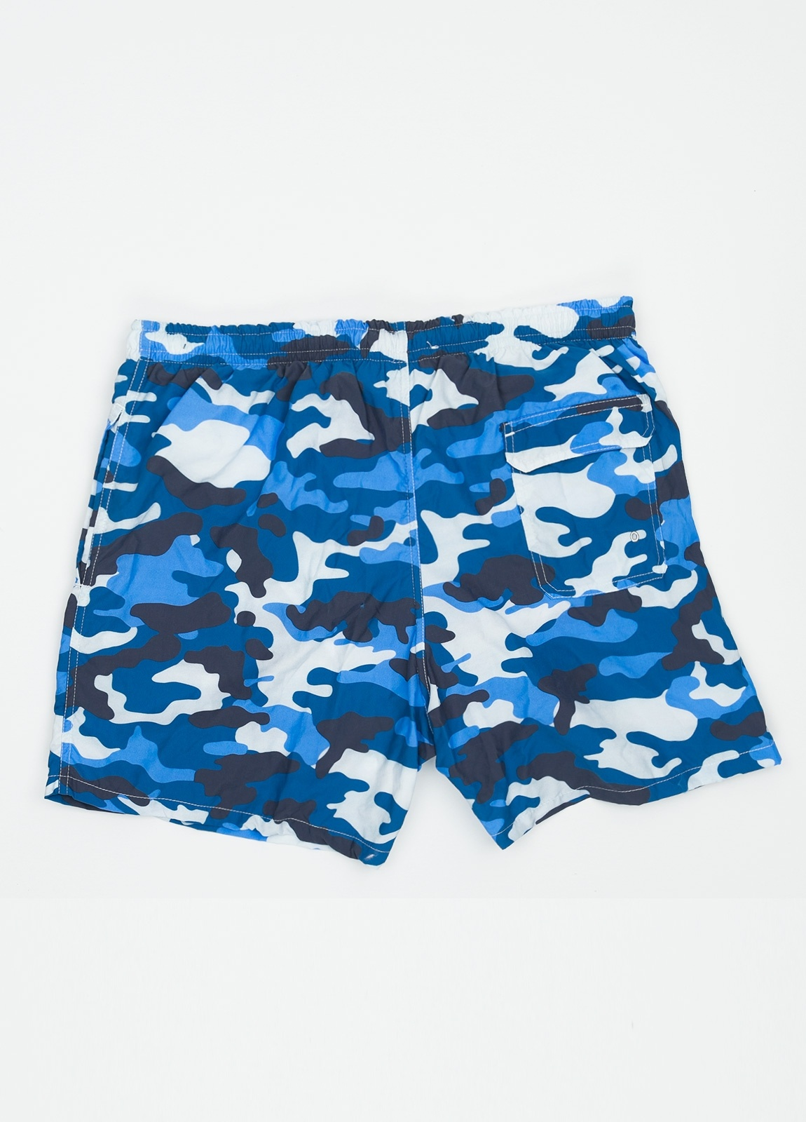 Bañador con estampado de camuflaje color azul medio. - Ítem1