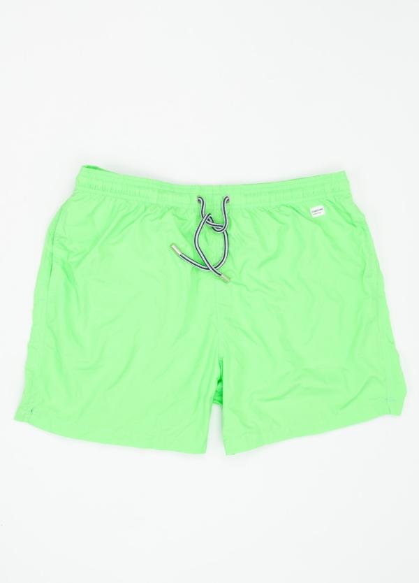 Bañador liso modelo SUPREME color verde, microfibra.